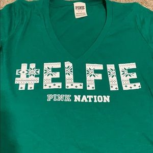 #Elfie Holiday V-neck from Pink